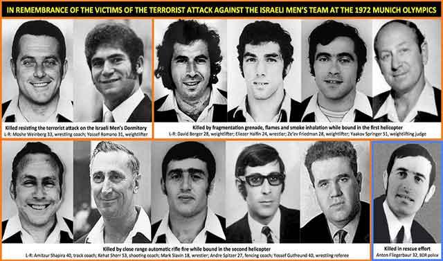 کشته شده های اسراییلی و نیروی پلیس آلمان